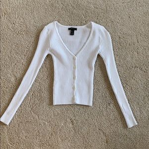 Forever 21 button down v-neck sweater